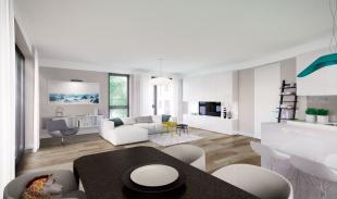 Innenraumperspektive Wohnzimmer